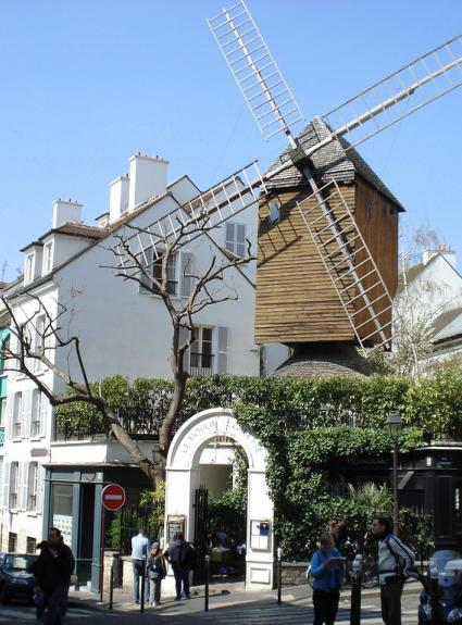 The Moulin de la Galette; a restaurant with a little-known history